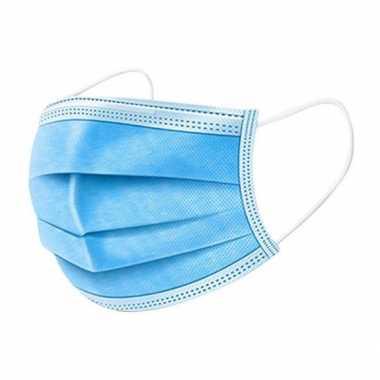 100x beschermende mondkapjes blauw