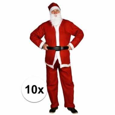 10x voordelige santa run kerstman verkleedkleding voor volwassenen
