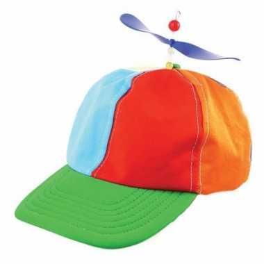8 clown verkleedkleding propeller petjes