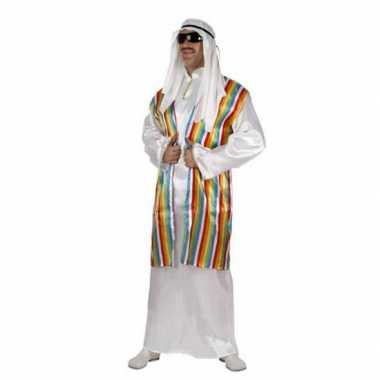 Arabisch verkleedkleding met regenboog vest voor volwassenen