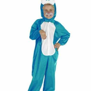 Blauw konijnen verkleedkleding voor kinderen