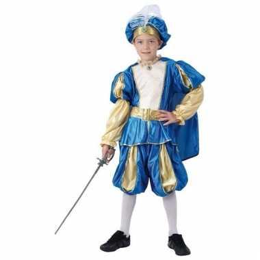 Blauw prinsen verkleedkleding voor jongens