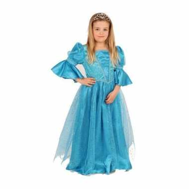 Blauwe prinses verkleedkleding voor meisjes