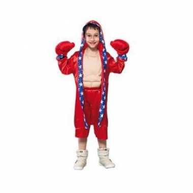 Bokser verkleedkleding voor kinderen rood