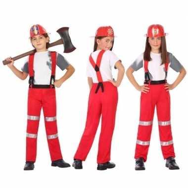 Brandweer pak / verkleed verkleedkleding voor jongens en meisjes