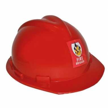 Brandweerhelm verstelbaar verkleed accessoire volwassenen