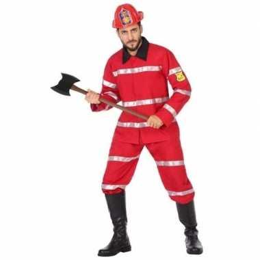 Brandweerman verkleed verkleedkleding voor heren