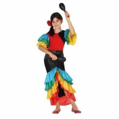 Braziliaanse samba/rumba danseres verkleed verkleedkledingvoor meisje