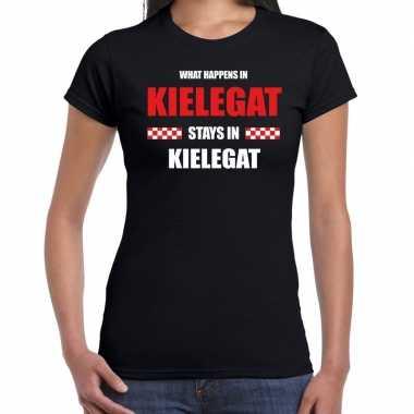 Breda/kielegat verkleedkleding / t shirt zwart dames