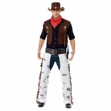 Bruin cowboy verkleedkleding voor heren