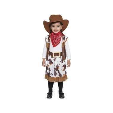 Bruin cowboy verkleedkleding voor peuters