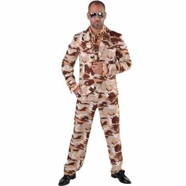 Camouflage verkleedkleding 3 delig voor heren