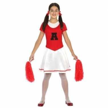 Cheerleader jurk/jurkje verkleed verkleedkleding voor meisjes