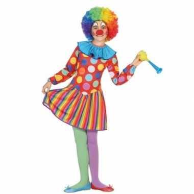 Clown dotty verkleedkleding voor meisjes