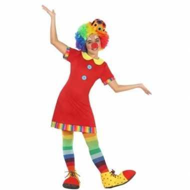 Clown floppy verkleedkleding voor meisjes