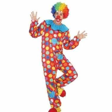 Clown verkleed pak/verkleedkleding voor heren