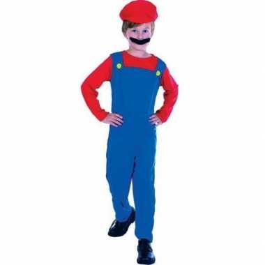 Complete loodgieter mario verkleedkleding voor kinderen