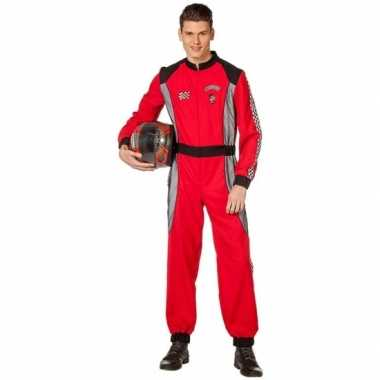 Coureur verkleedkleding rood voor heren