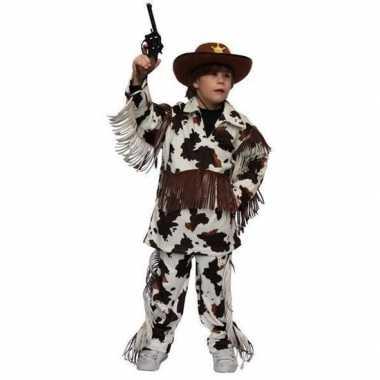 Cowboy verkleedkleding met koeienprint voor kinderen