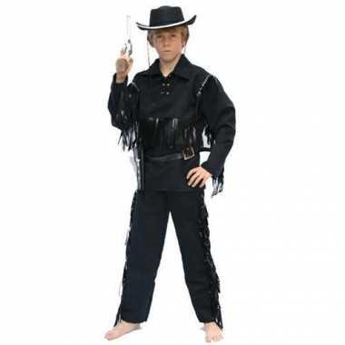 Cowboy verkleedkleding voor kinderen zwart