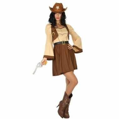 Cowgirl/cowboy cassidy verkleed verkleedkleding/jurk voor dames
