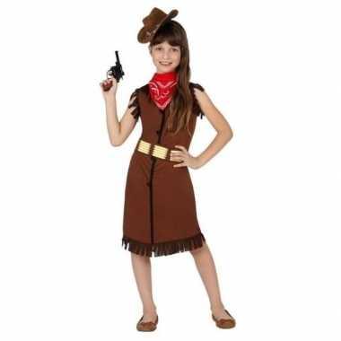 Cowgirl/cowboy verkleedkleding/jurk voor meisjes