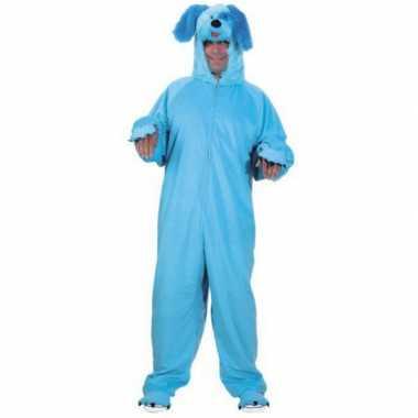 Dieren verkleedkleding blauwe hond voor volwassenen