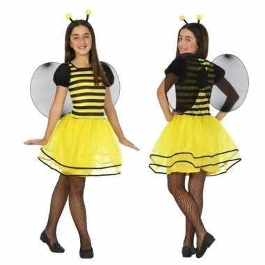 Dierenpak bij/bijen verkleed jurk/jurkje voor meisjes