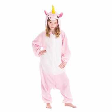 Dierenpak eenhoorn pinky onesie verkleed verkleedkleding voor kindere