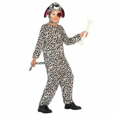 Dierenpak hond/honden verkleed verkleedkleding dalmatier voor kindere
