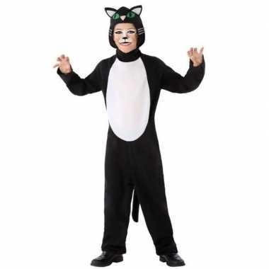 Dierenpak kat/poes verkleed verkleedkleding voor kinderen