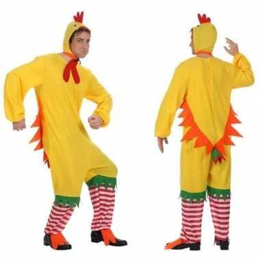 Dierenpak kip/haan/kuiken verkleed verkleedkleding voor volwassenen