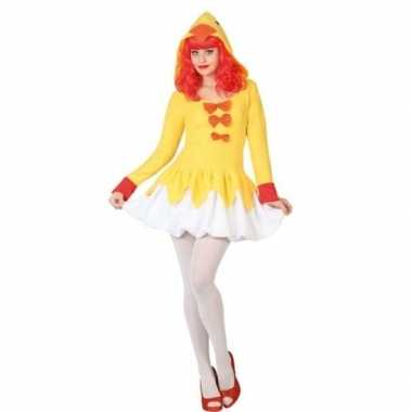 Dierenpak kip/kuiken verkleed jurk/verkleedkleding voor dames