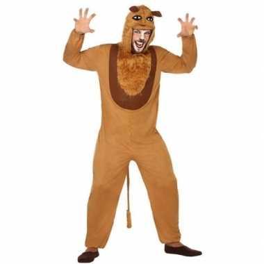Dierenpak verkleed verkleedkleding leeuw voor volwassenen
