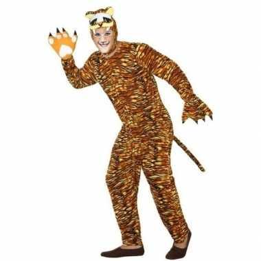 Dierenpak verkleed verkleedkleding tijger voor volwassenen