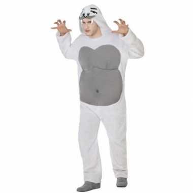Dierenpak yeti verkleed verkleedkleding voor volwassenen