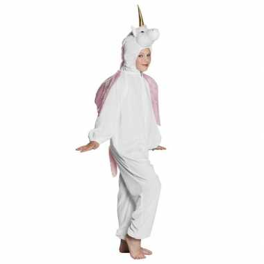Eenhoorn dieren onesie/verkleedkleding voor kinderen wit
