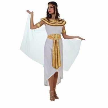 Egyptische farao cleopatra verkleed verkleedkleding/jurk wit voor dam