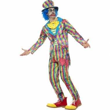 Eng horror clown verkleedkleding met streepjes