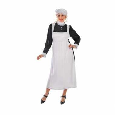Engels dienstmeisje verkleedkleding