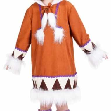 Eskimo verkleedkleding met laarshoezen voor meisjes