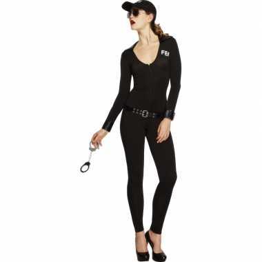 Fbi verkleedkleding voor dames zwart
