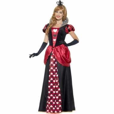Feest hartenkoningin verkleedverkleedkleding voor dames