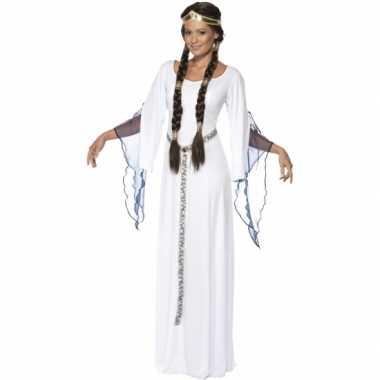 Feest middeleeuwse witte verkleedverkleedkleding voor dames