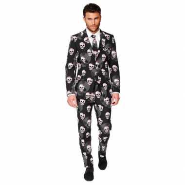 Feest verkleedkleding doodshoofden print