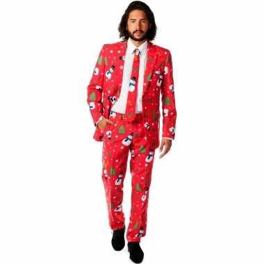 Feest verkleedkleding kerstmis print