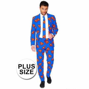 Feest verkleedkleding superman print