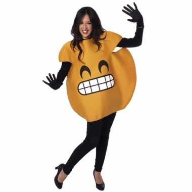 Fun smile emoticon verkleedkleding volwassenen