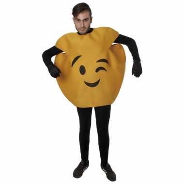 Fun wink emoticon verkleedkleding volwassenen