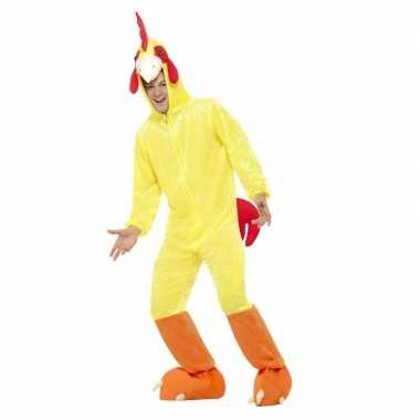Geel kip/haan verkleedkleding voor volwassenen